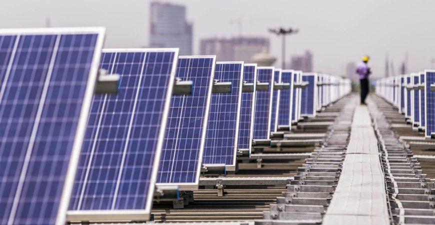 Solar panel hallway