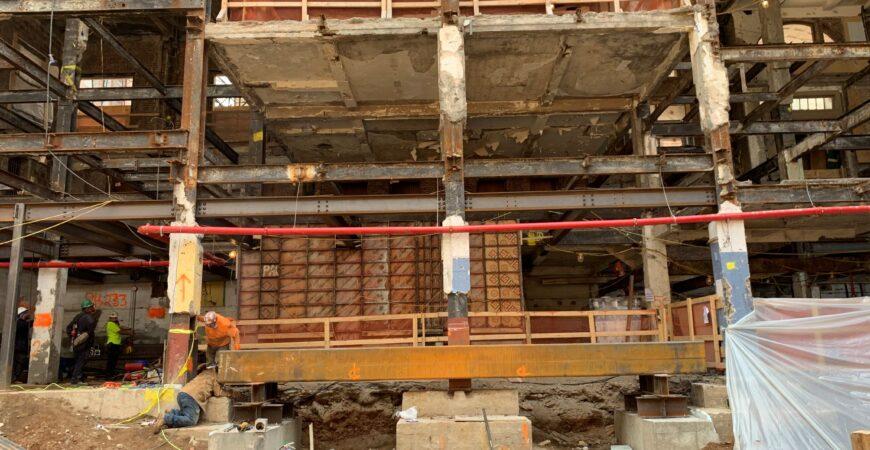 column shoring reduced